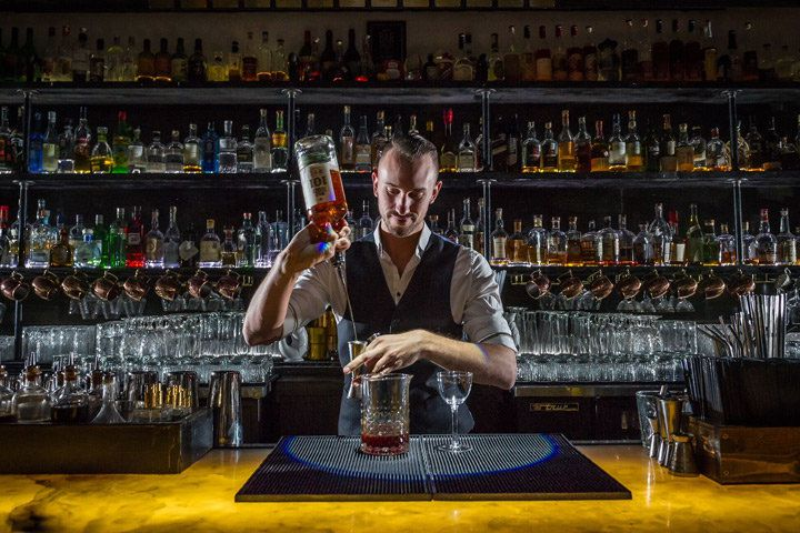 Justin Lavenue, a partner and owner of The Roosevelt Room in Austin