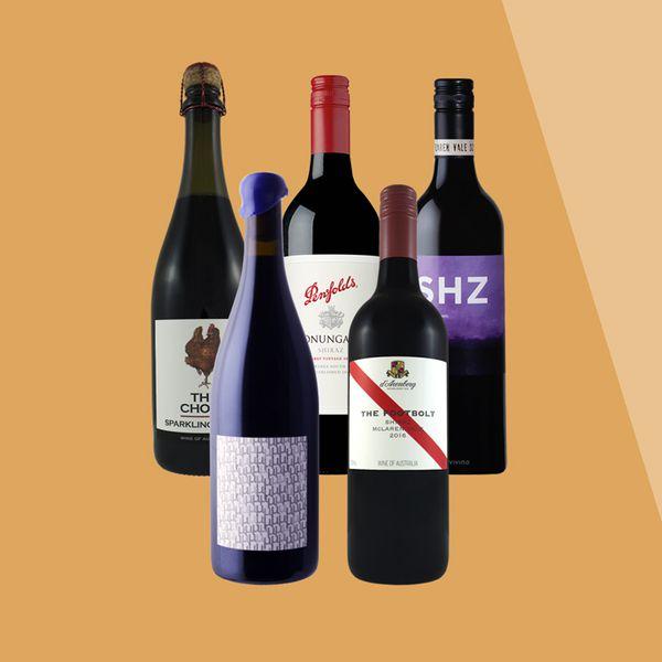Shiraz wine bottles