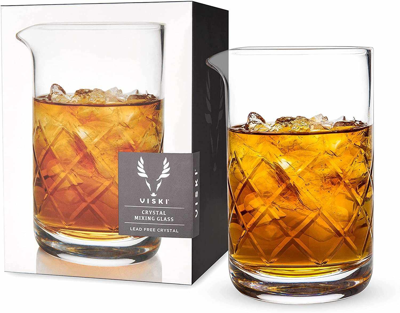 Viski Crystal Cocktail Mixing Glass