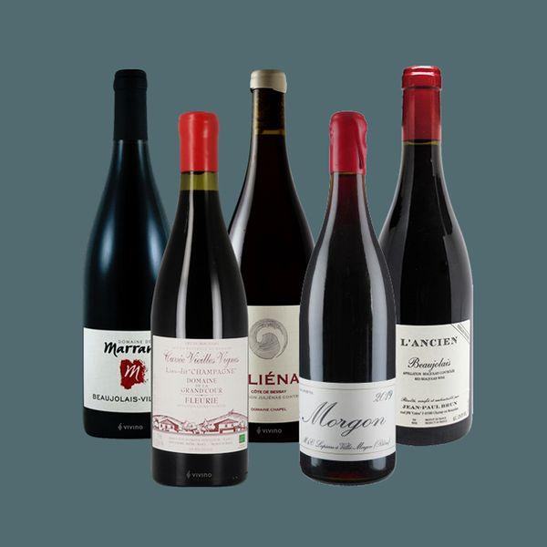 Beaujolais wine bottles