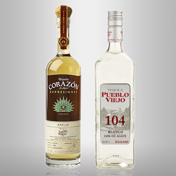 corazon and pueblo viejo tequilas