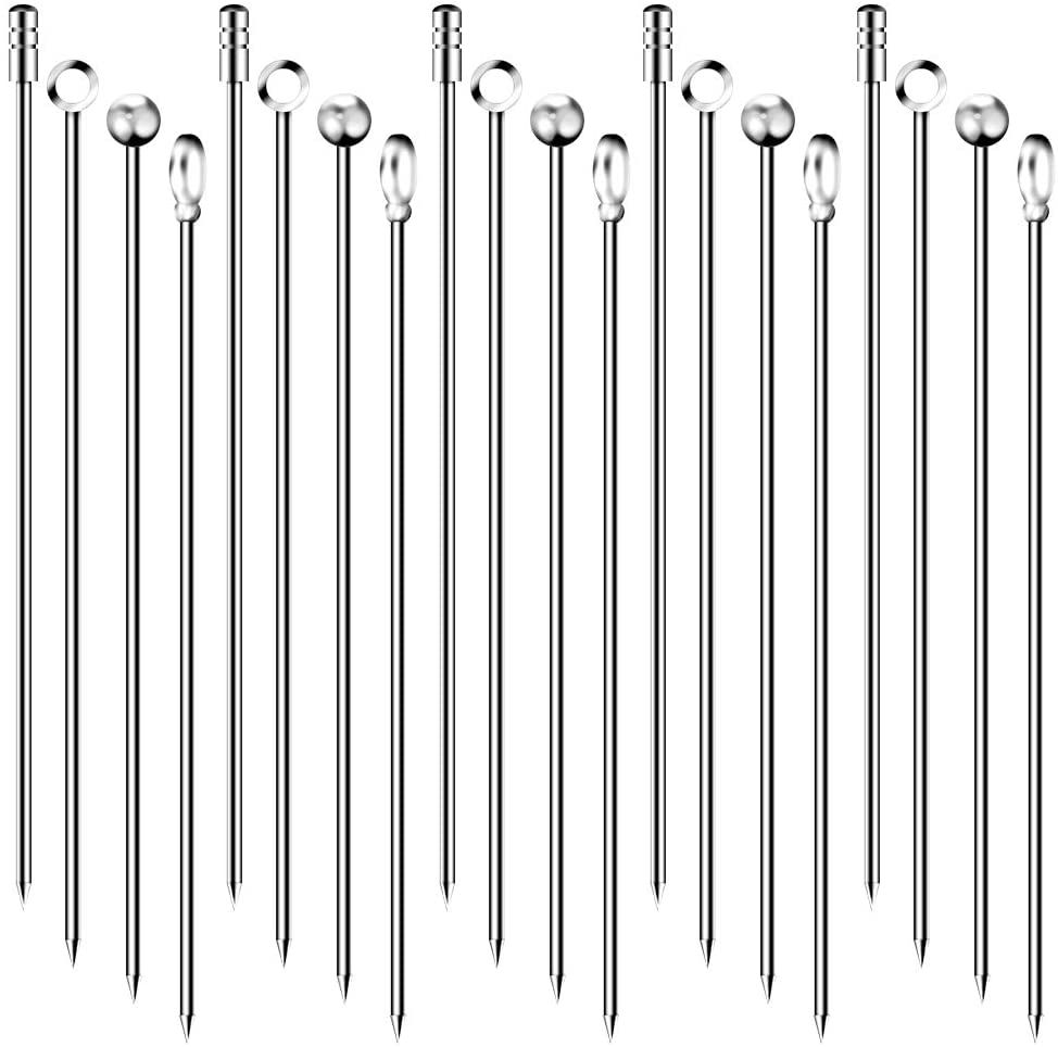 20 Piece Stainless Steel Cocktail Picks