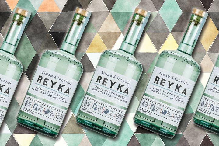 Reyka vodka bottles