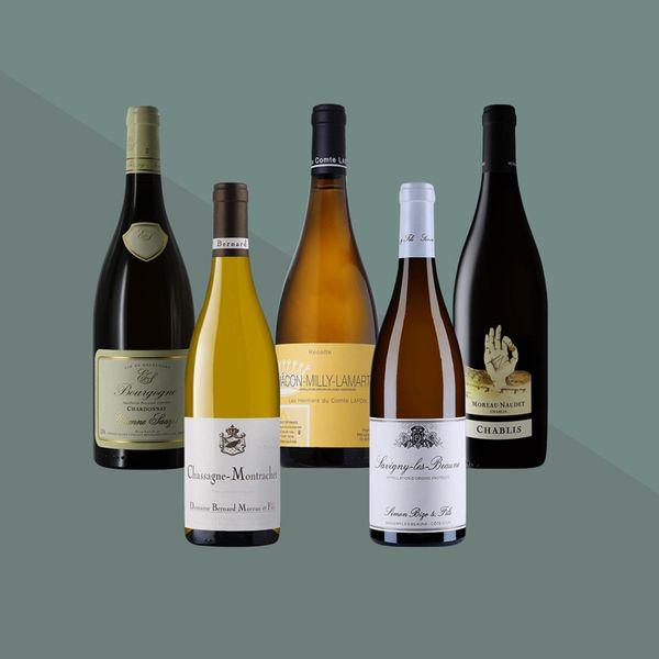 White Burgundy bottles