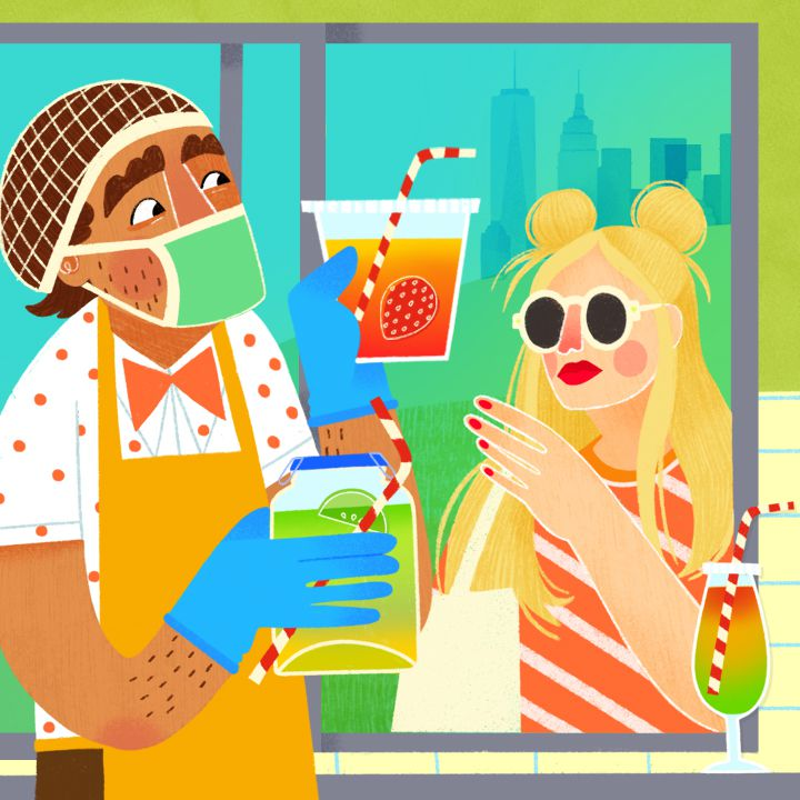 takeout cocktails illustration