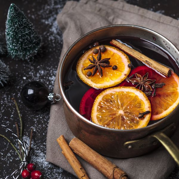 Pot of mulled wine