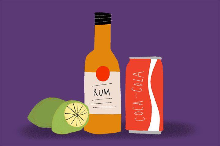 Cuba Libre ingredients illustration