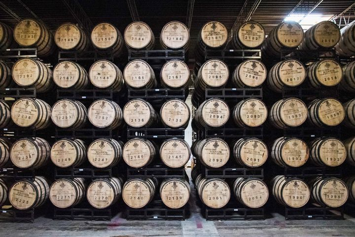 Laws Whiskey House barrels