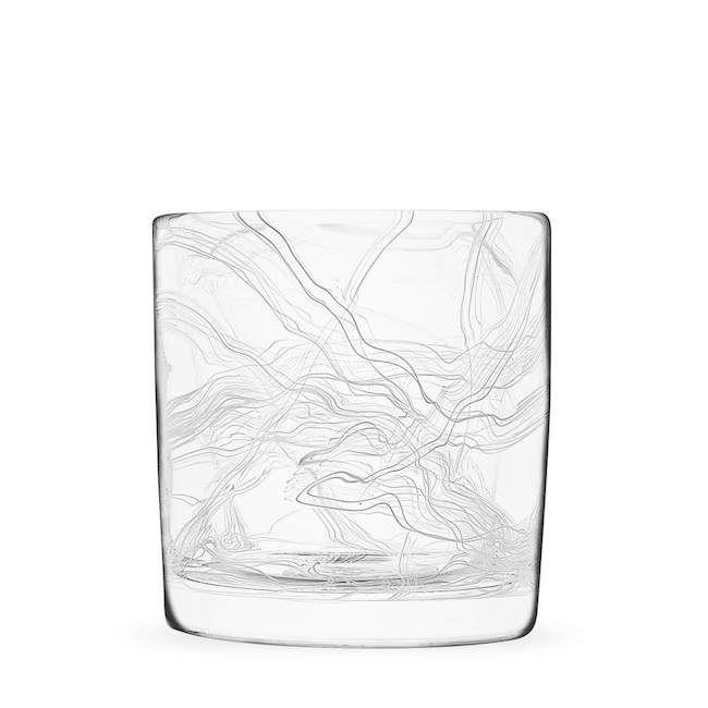 White Strada Series Rocks Glass by JFR Glass