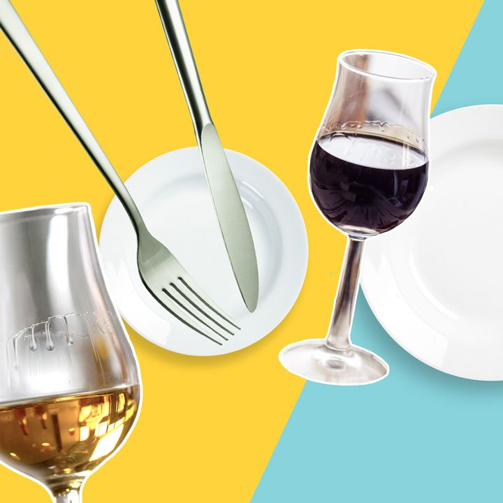 photo of sweet wines with plates
