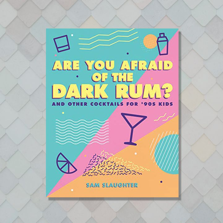 Are You Afraid of the Dark Rum cover with '90s-inspired color blocks and motifs