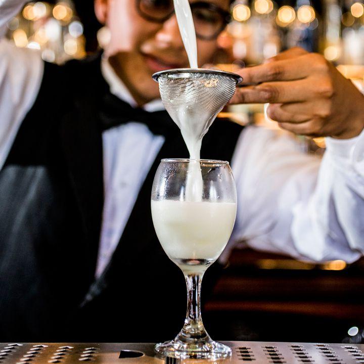 Cocktail making at Bar Inglés