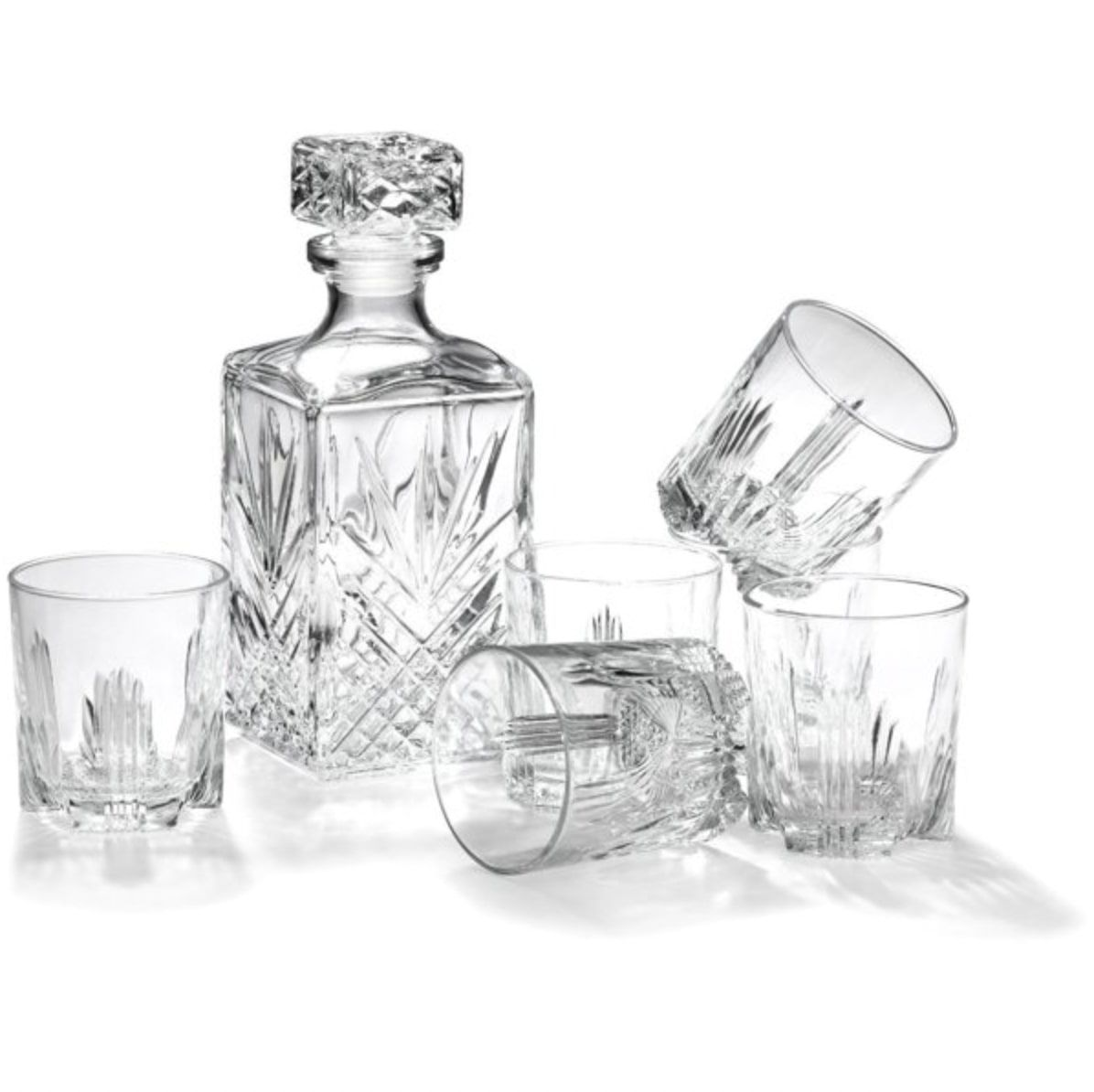 Bormioli Rocco Selecta 7 Piece Whisky Decanter Set