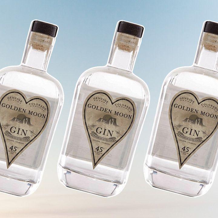 Golden Moon gin bottle