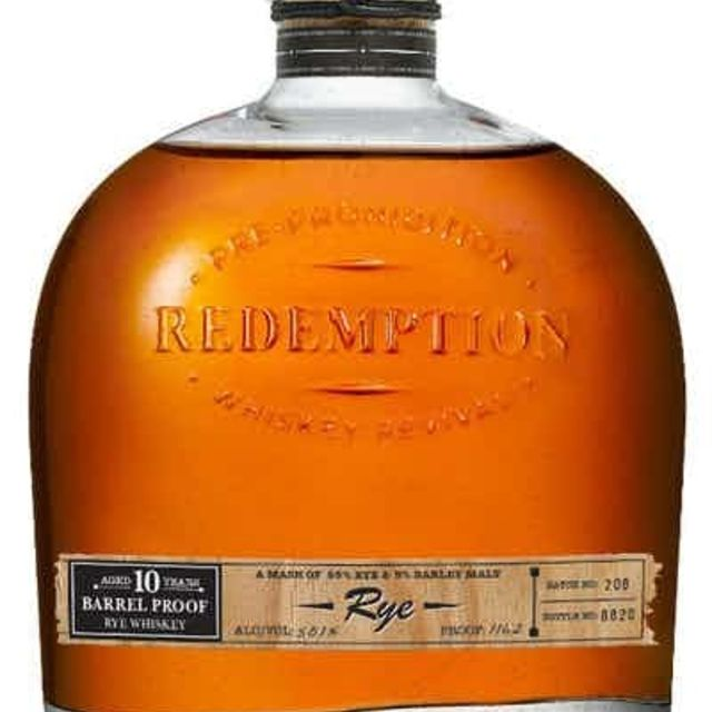 Redemption 10 Year-Old Barrel Proof Rye