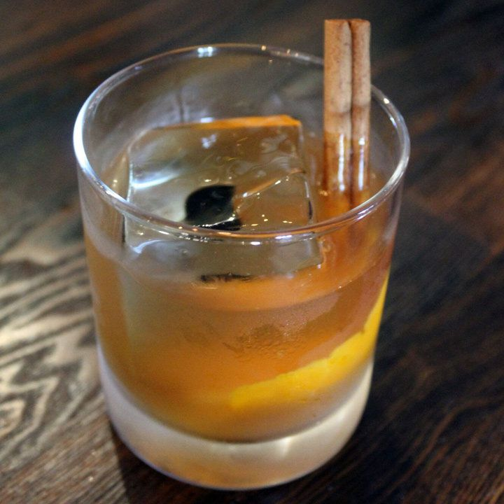 pumpkin spice old fashioned cocktail