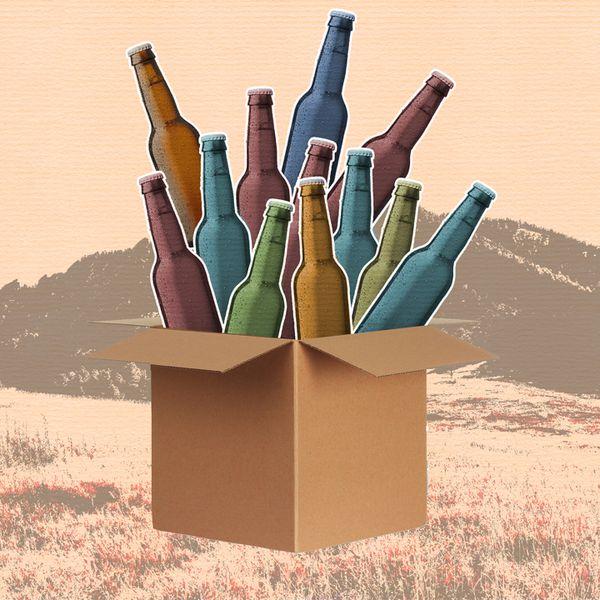 beer bottles in box