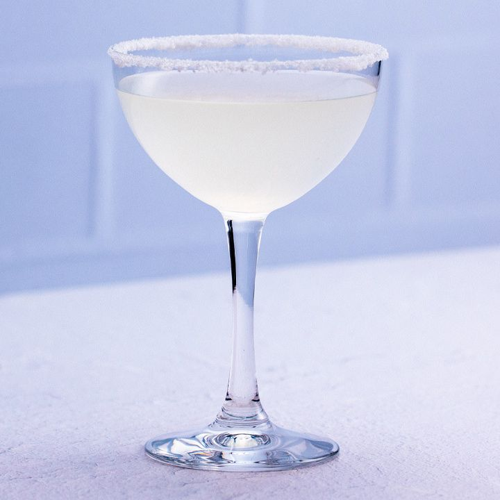 Lemon Drop cocktail in a sugar-rimmed glass