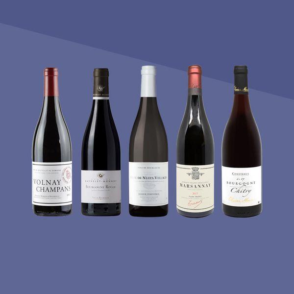 Red Burgundy bottles