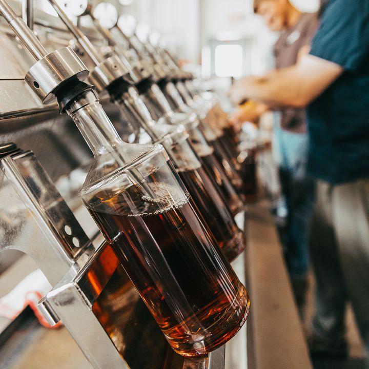 Starlight Distillery bottling line