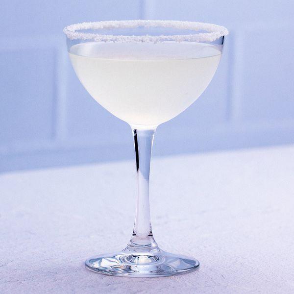 Lemon Drop cocktail in a sugar-rimmed glass