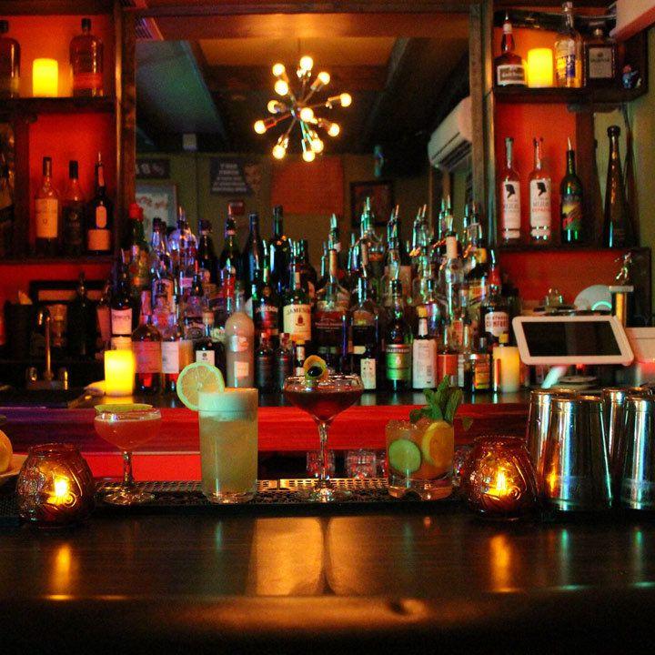 Pop's Liquor Cabinet back bar