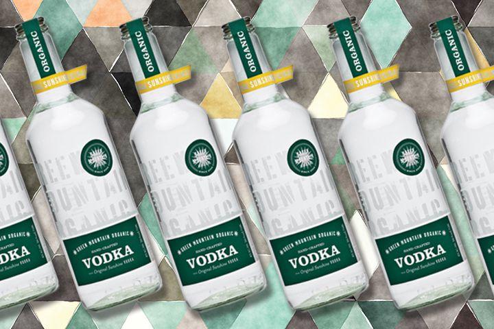 Green Mountain vodka bottles