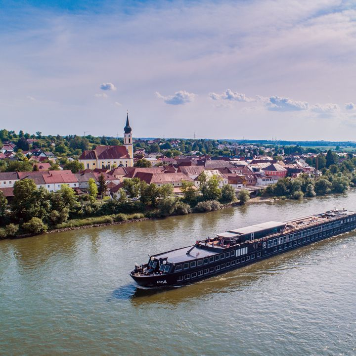U River Cruise Boat on the Danube River