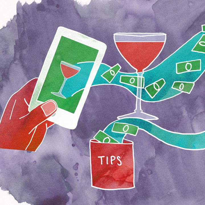 tipping illustration
