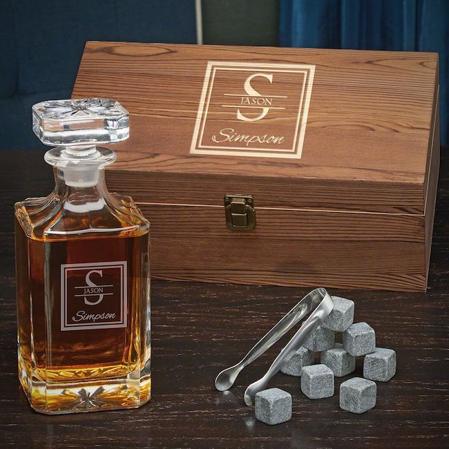Oakhill Personalized Carson Decanter Gift Set