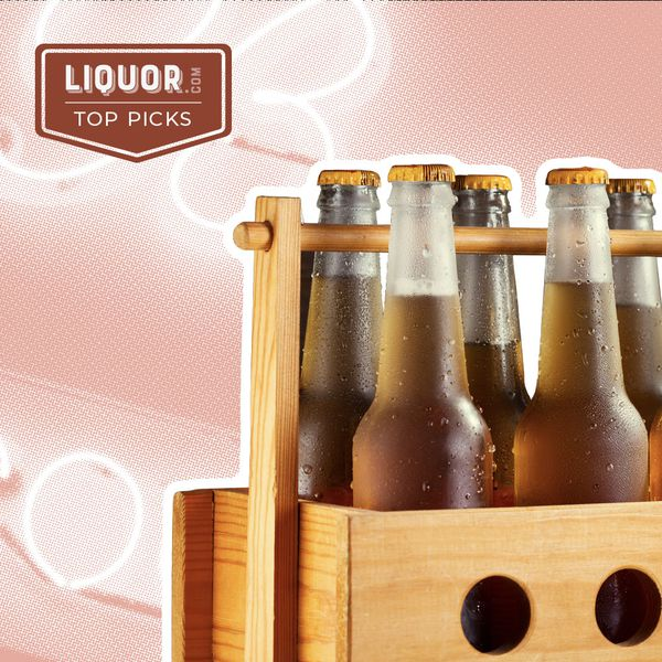 Photo composite of a case of beer.
