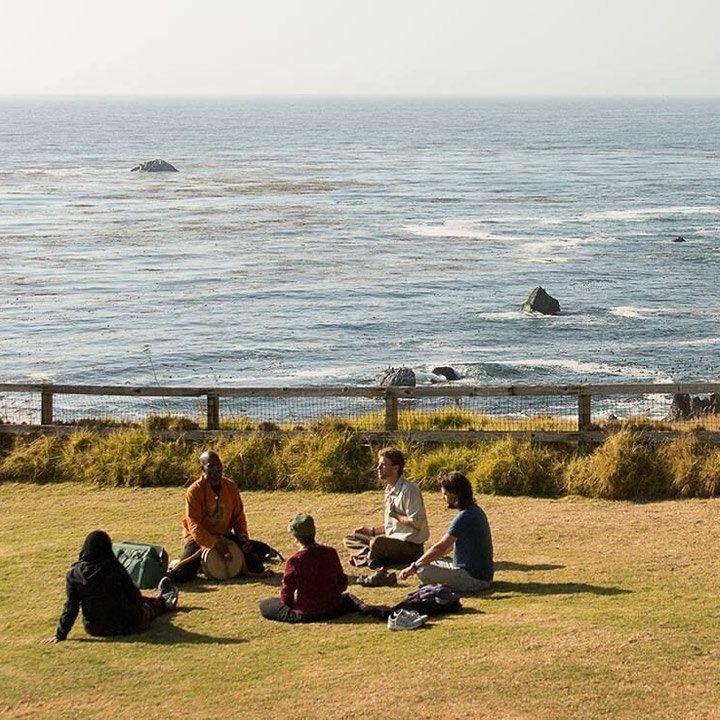Esalen retreat in Big Sur, California