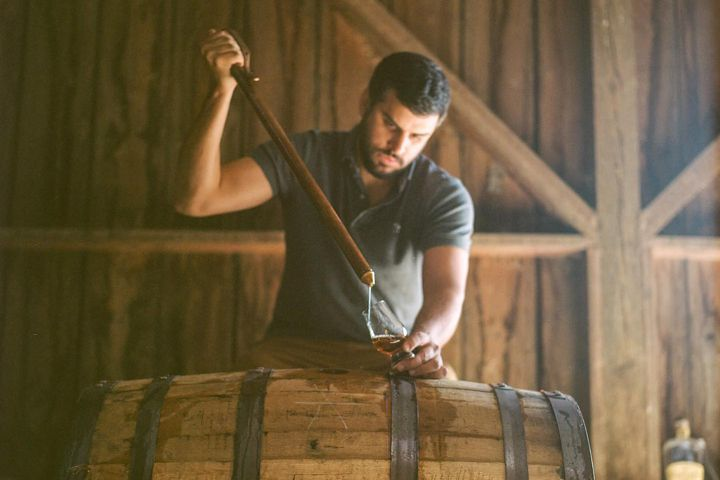 Extracting WhistlePig with a whiskey thief