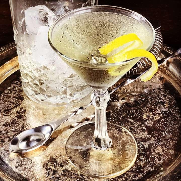 Smoky Martini cocktail
