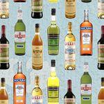 French spirits bottles