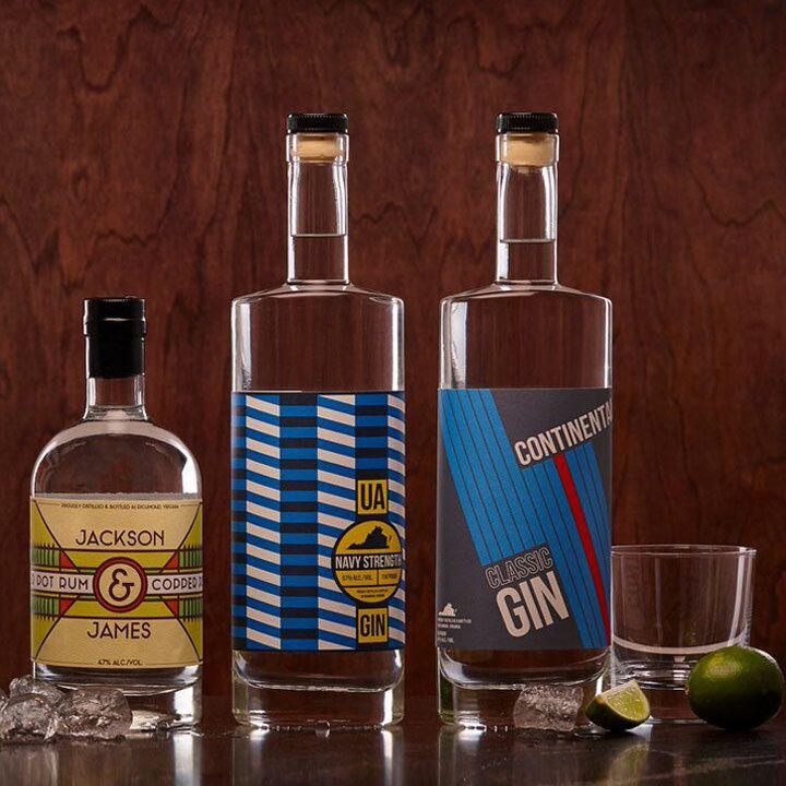 James River Distillery's spirits bottles