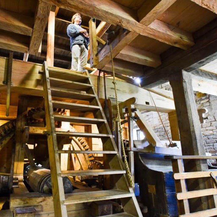 George Washington's Distillery and Gristmill interior
