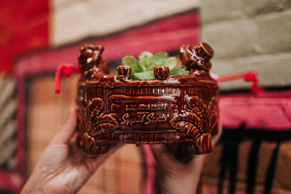 Sippin' Santa Tiki Tub Punch Bowl