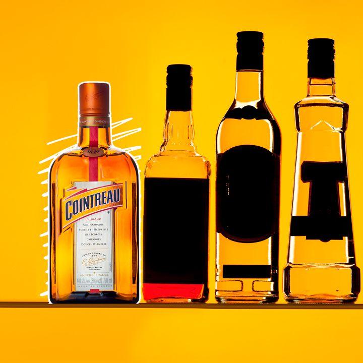 Cointreau bottle illustration