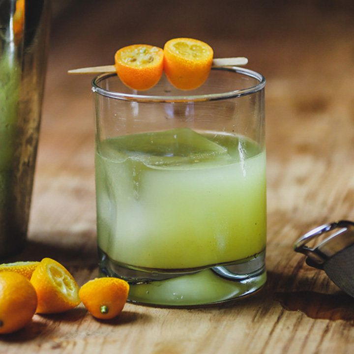 kumquat smash cocktail