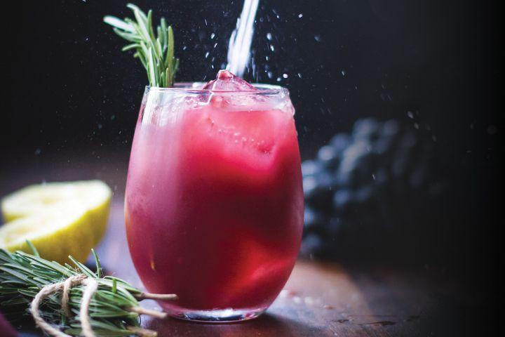 1. Grape, Rosemary & Gin Crush