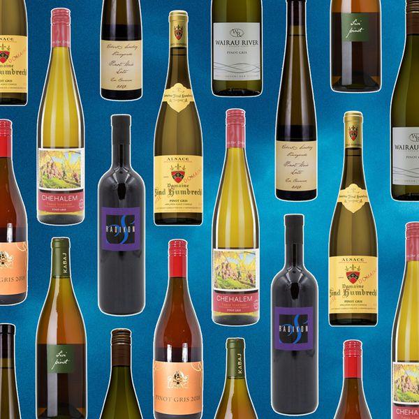 Pinot grigio bottles