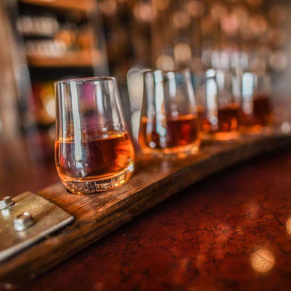 Boulder Spirits whiskey drams