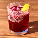 Spiced Hibiscus Margarita created by Jamie Dodge at Barrio Costero in Asbury Park, New Jersey