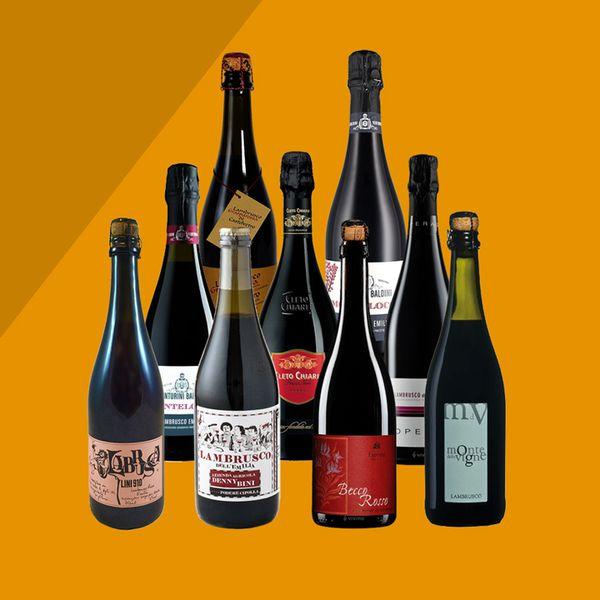 Lambrusco bottles