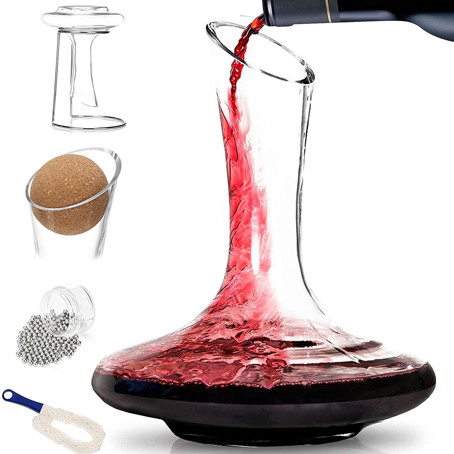 Wine Enthusiast Art Series Wine Tower Decanting Set