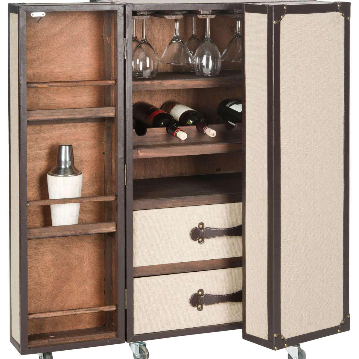 Safavieh Grayson Bar Cabinet in Beige