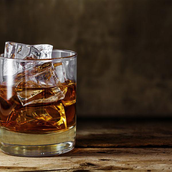 A glass of scotch whiskey