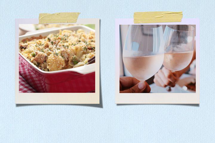 Tuna Noodle Casserole and Rosé