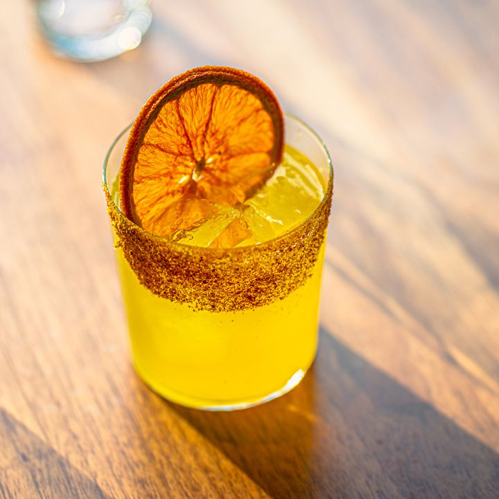 The Long Flight created by Estelle Bossy at Panorama Room in New York City, inspired by ingredients she first encountered at Kalustyan's.